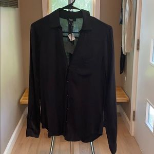 Paige Black Button Down Shirt